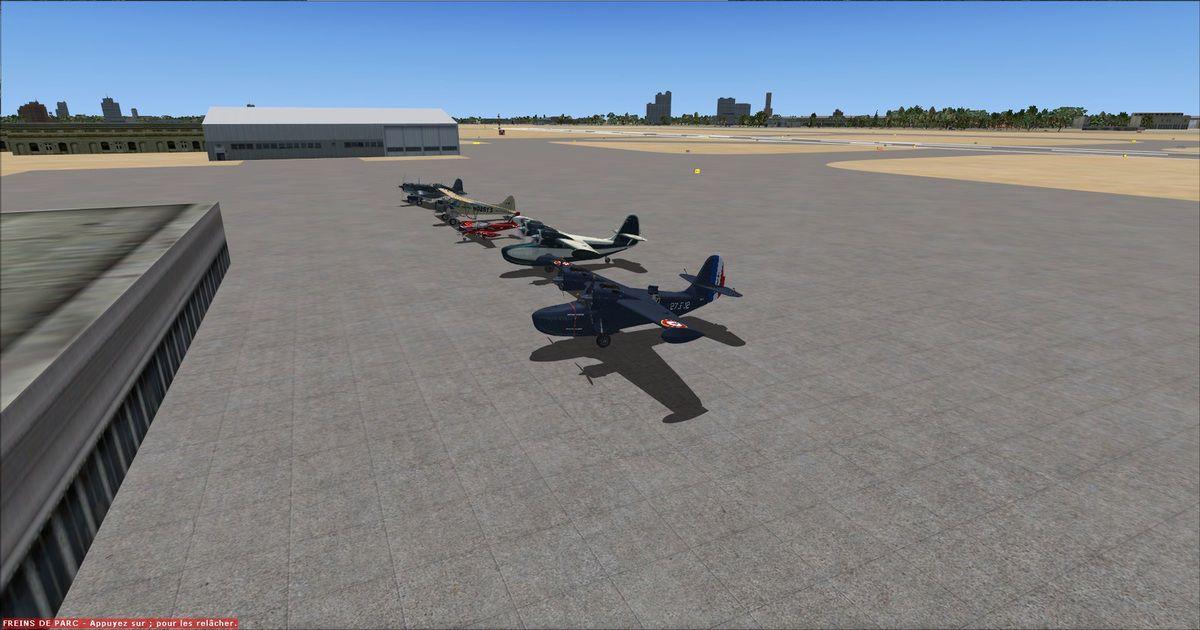 Tous les appareils parqués sur le tarmac de l'aéroport de Doha après 1h25 de vol sans encombre...