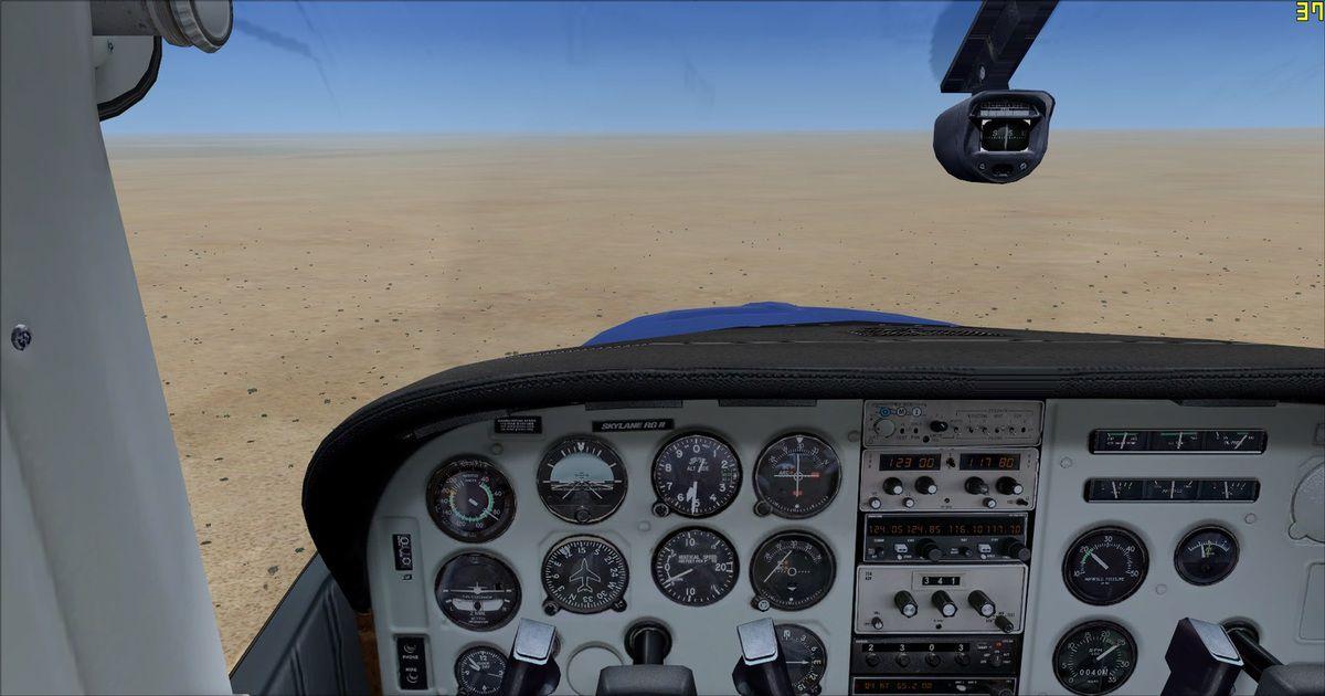 C'est guidé par Tyto31 que l'approche sur l'aérodrome, pardon la piste, ou plutôt sur la zone qui nous sert de piste à Double V Ranch, de quoi réveillerle coté pilote de brousse...