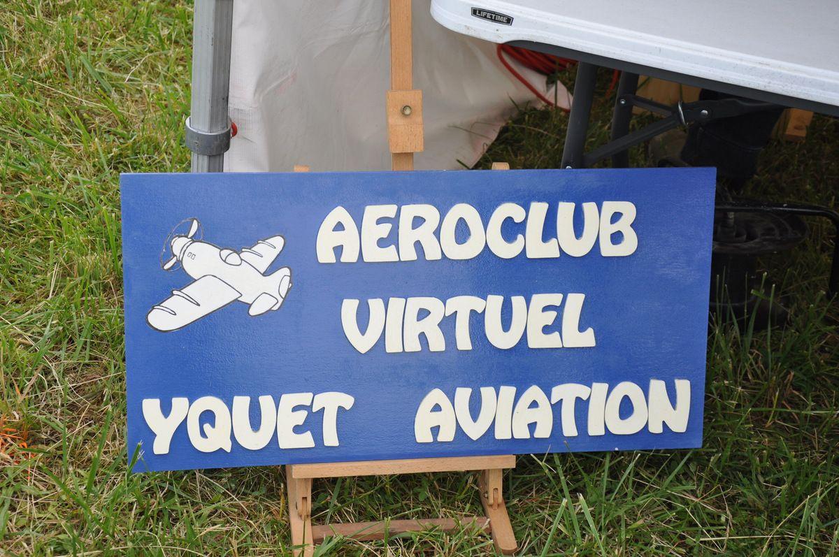 Cette année, l'Aéroclub virtuel YQUET-Aviation avait un stand...