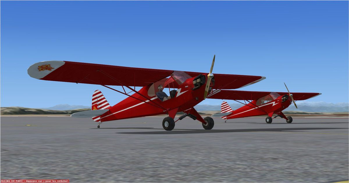 """La conclusion, trouvée par les deux Avyateurs, de ce vol est la suivante : """"Finalement la plus belle formation des deux appareils est au parking !..."""""""