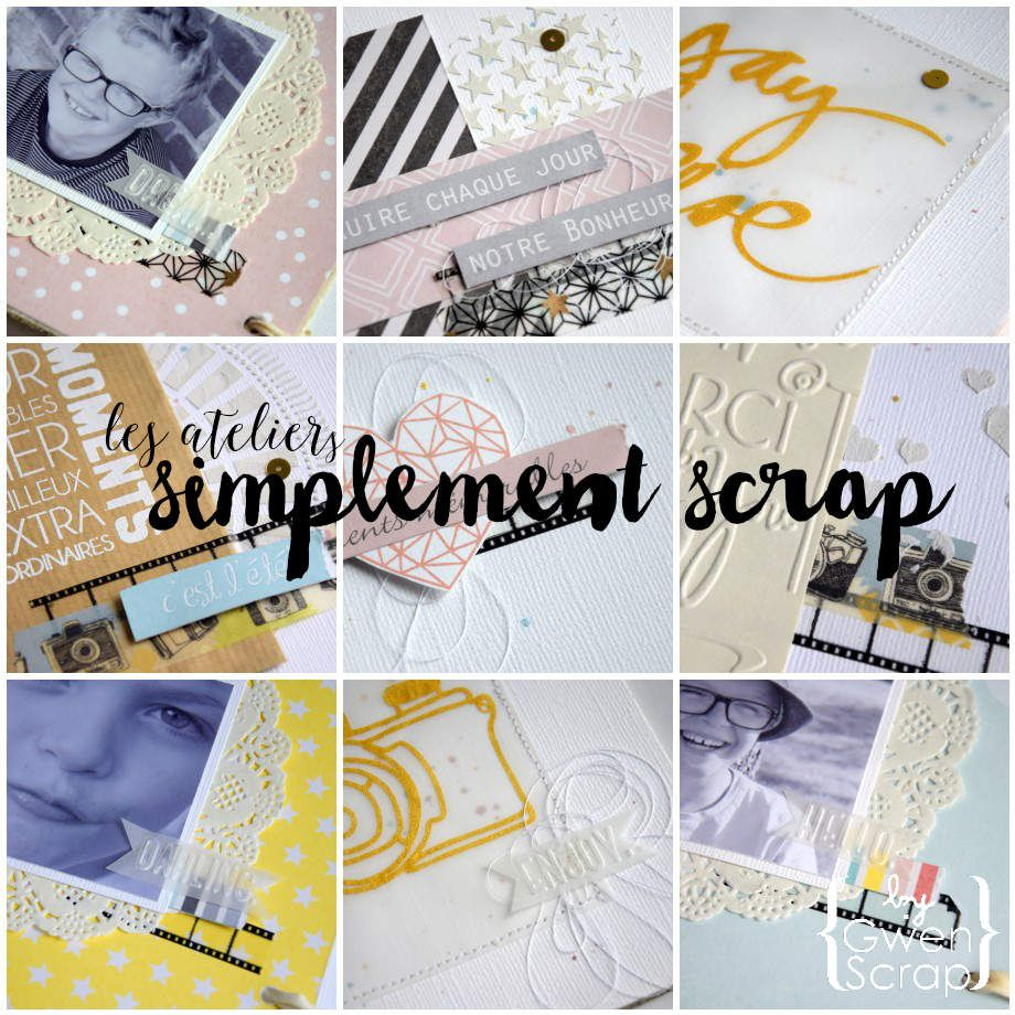 Atelier Mini Album #ensemble {Les Ateliers Simplement Scrap}