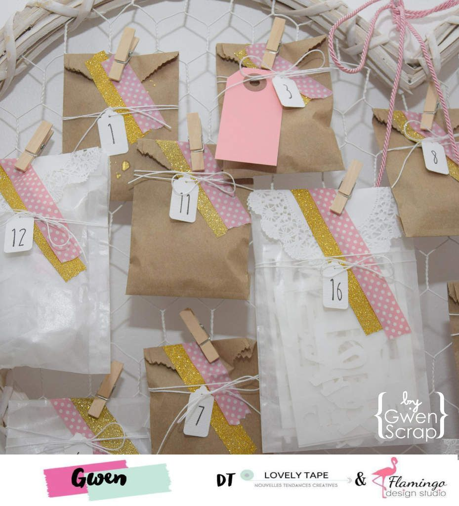 Un calendrier de l'avent fait maison ! {DT LovelyTape x Flamingo Design Studio}