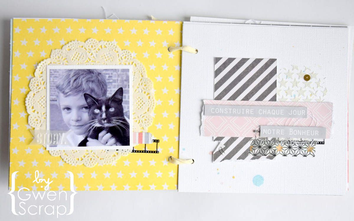 Mini-album &quot&#x3B;Ensemble&quot&#x3B; #LesAteliersSimplementScrap