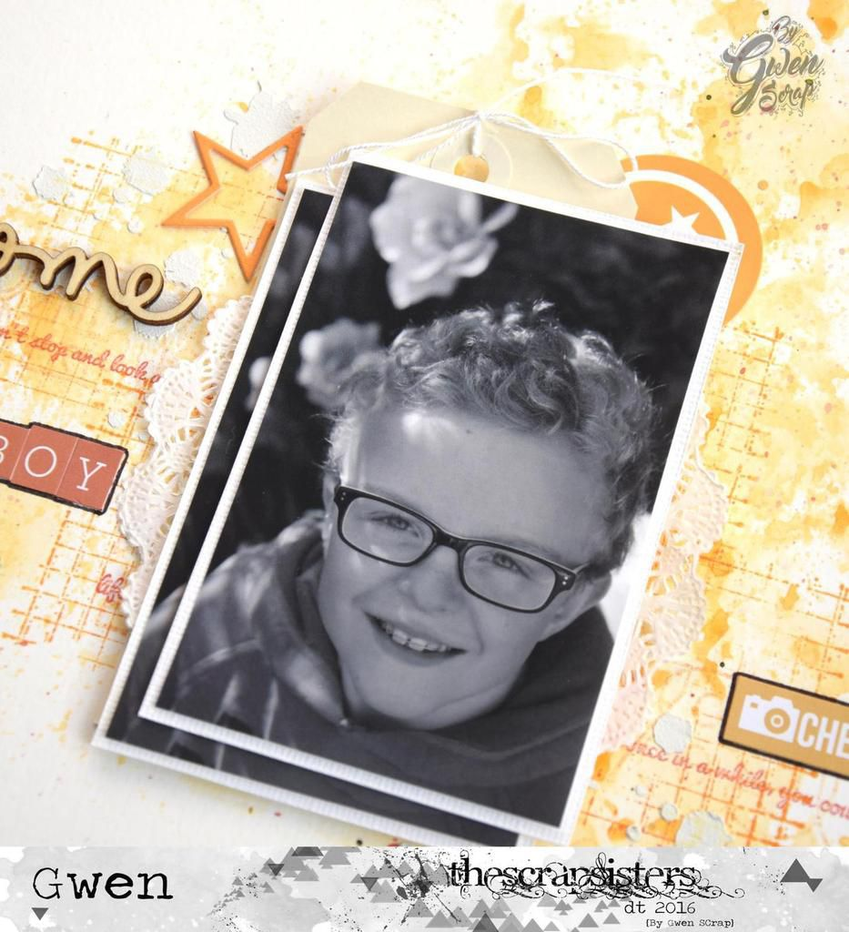 My awesome boy - Challenge d'avril {DT TheScrapsisters}