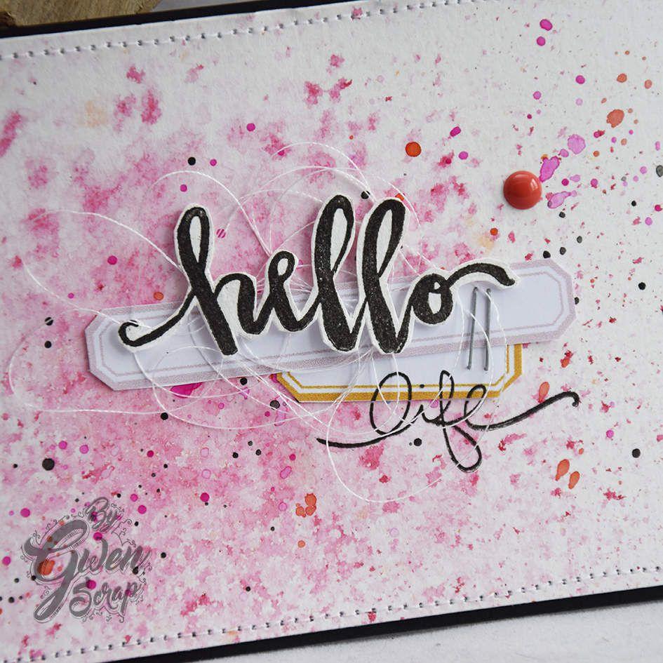 2 cartes : Hello life - Carpe Diem {DT Inspiration Création}
