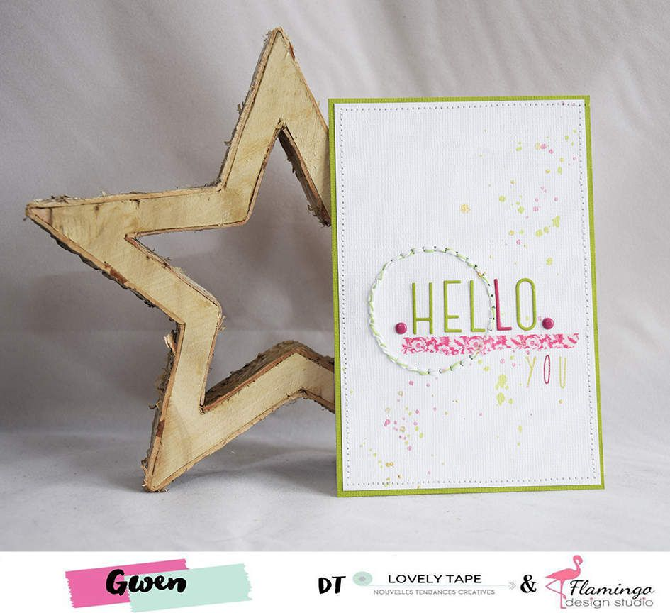 Carte : Hello you {DT LovelyTape x FlamingoDesignStudio}