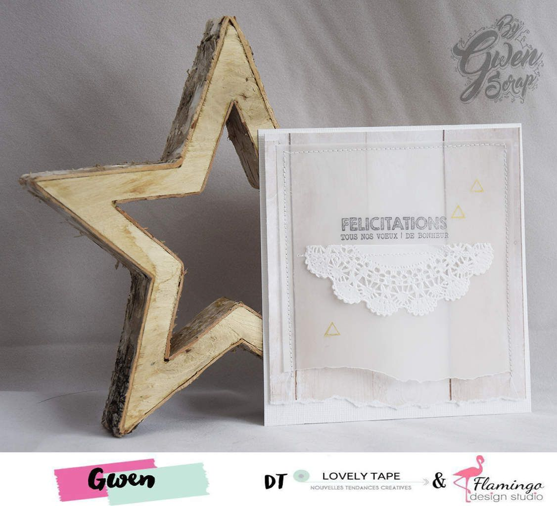 Carte : Félicitations {DT LovelyTape x FlamingoDesignStudio}