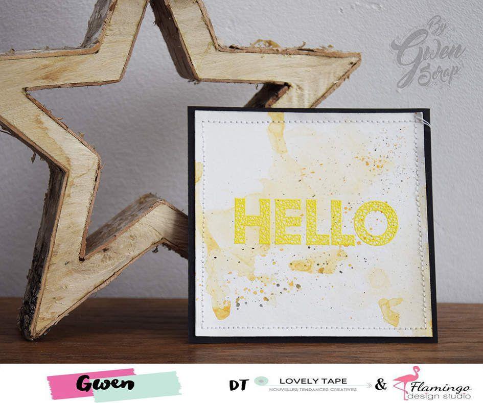 Carte : Hello {DT LovelyTape x FlamingoDesignStudio}