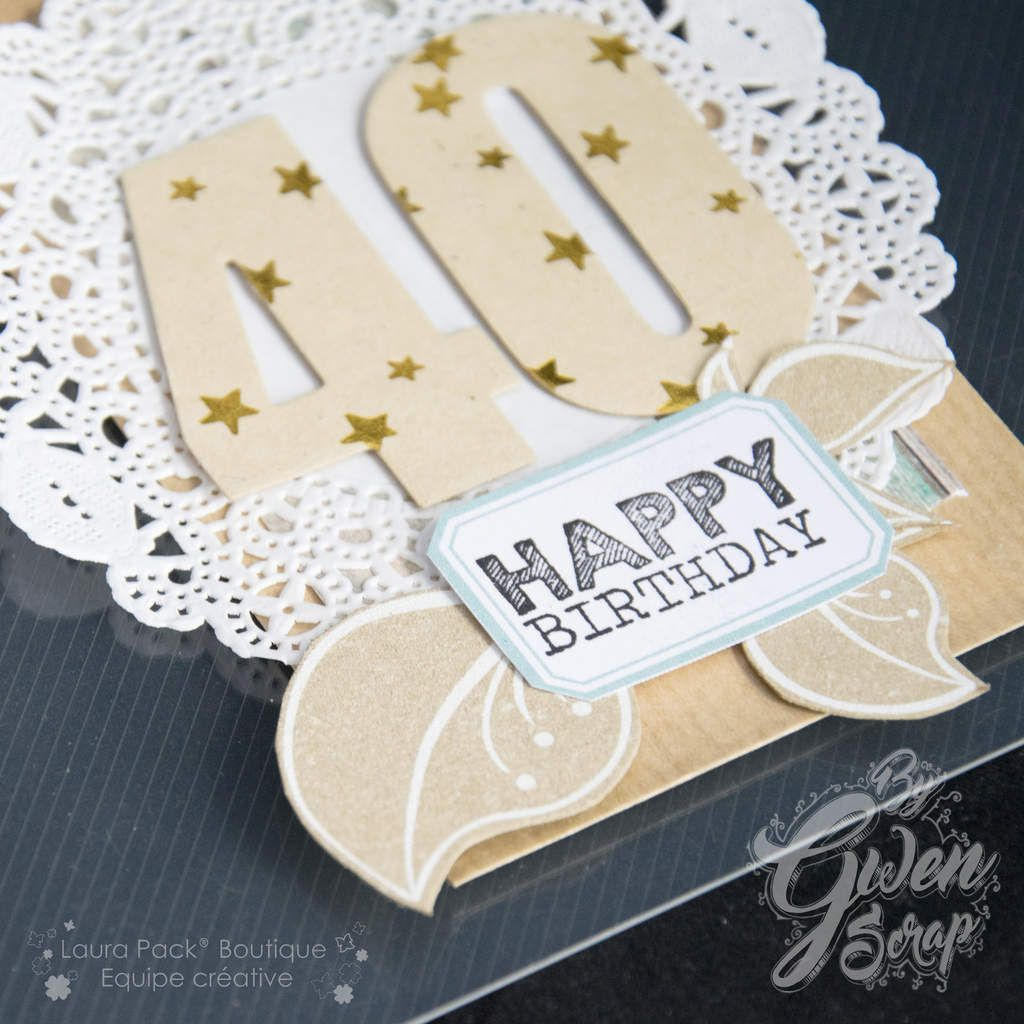 "Carte ""40 : Happy Birthday"" {DT Laura Pack}"
