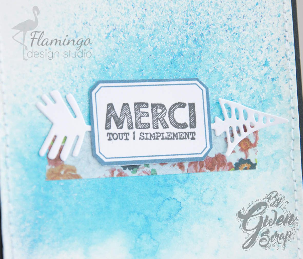 Carte : Merci tout simplement {DT LovelyTape x FlamingoDesignStudio}