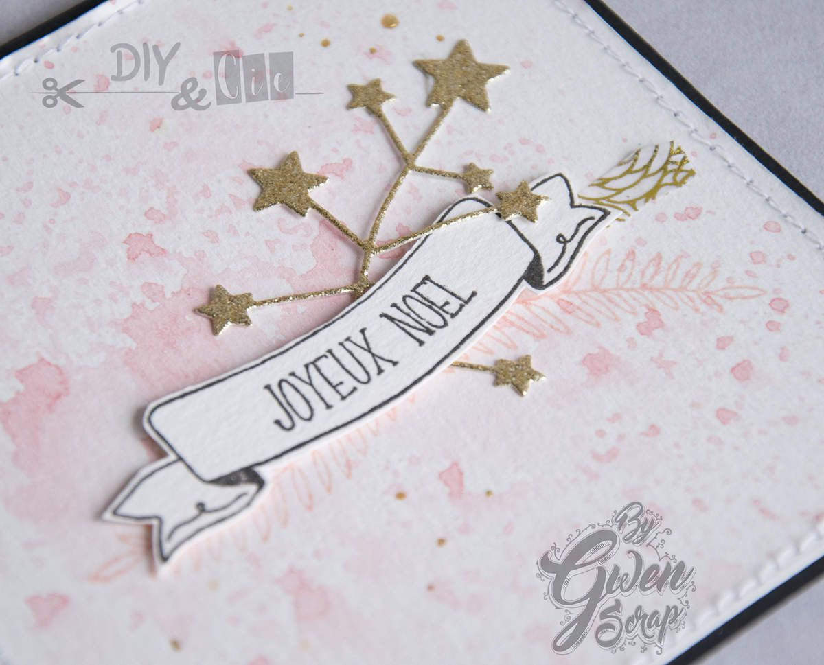 CARTE &quot&#x3B;Joyeux Noël&quot&#x3B; Version rose {DT DIY &amp&#x3B; Cie}