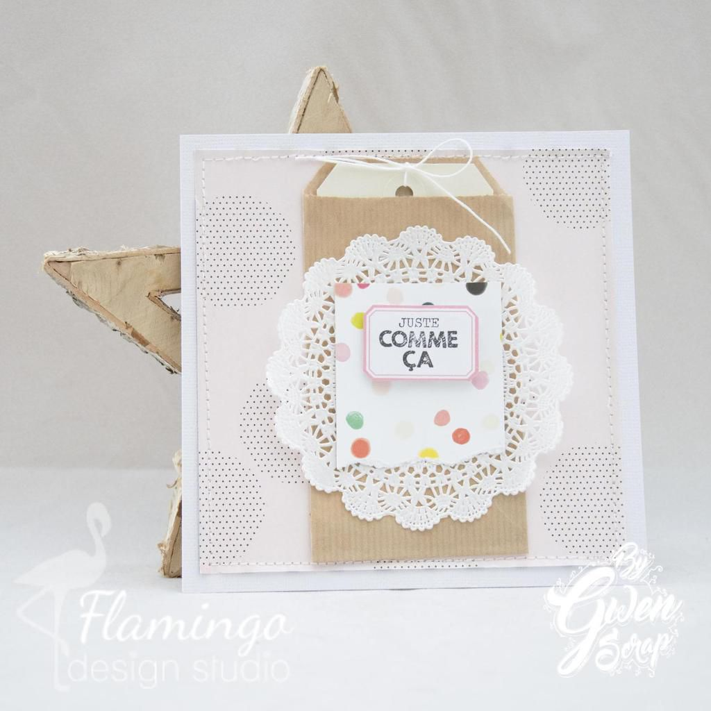 Cartes proposées aux Make and Take de Version Scrap Lille {DT Lovely Tape Flamingo Design Studio}