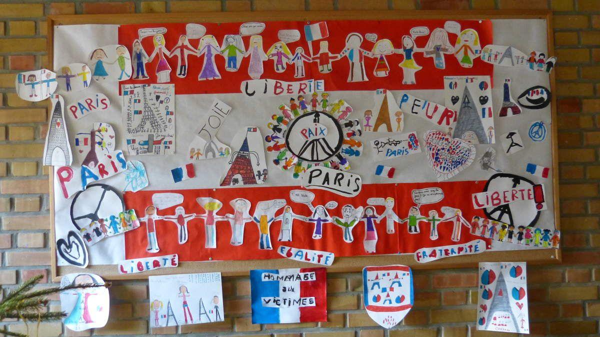 dessins d'élèves de CE2 et de la classe ULIS