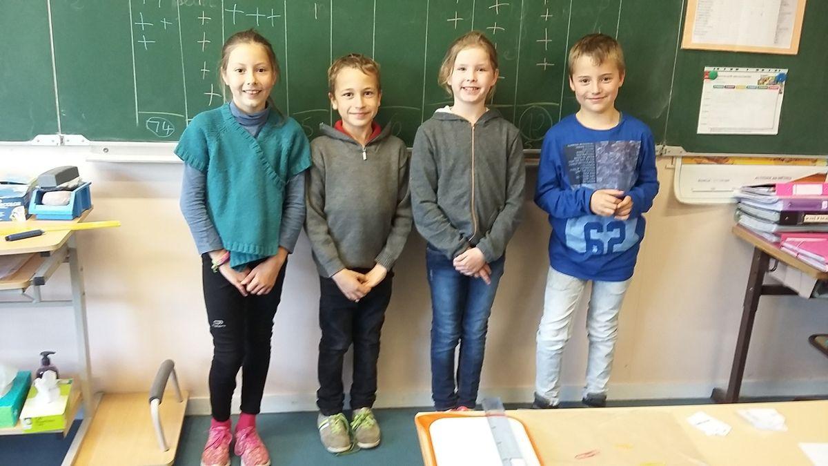 Les délégués élus dans la classe de cm1 de Madame Ganter