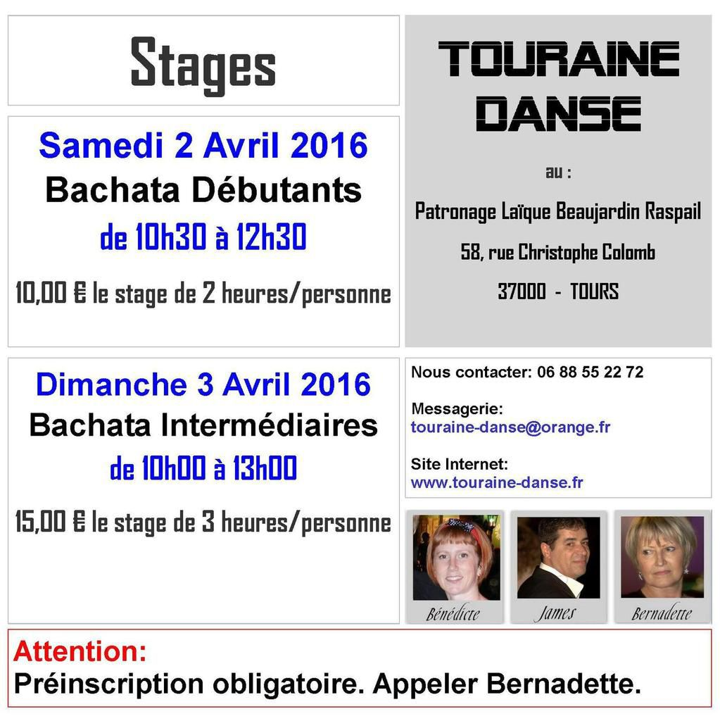 Stage de Bachata - Avril 2016.