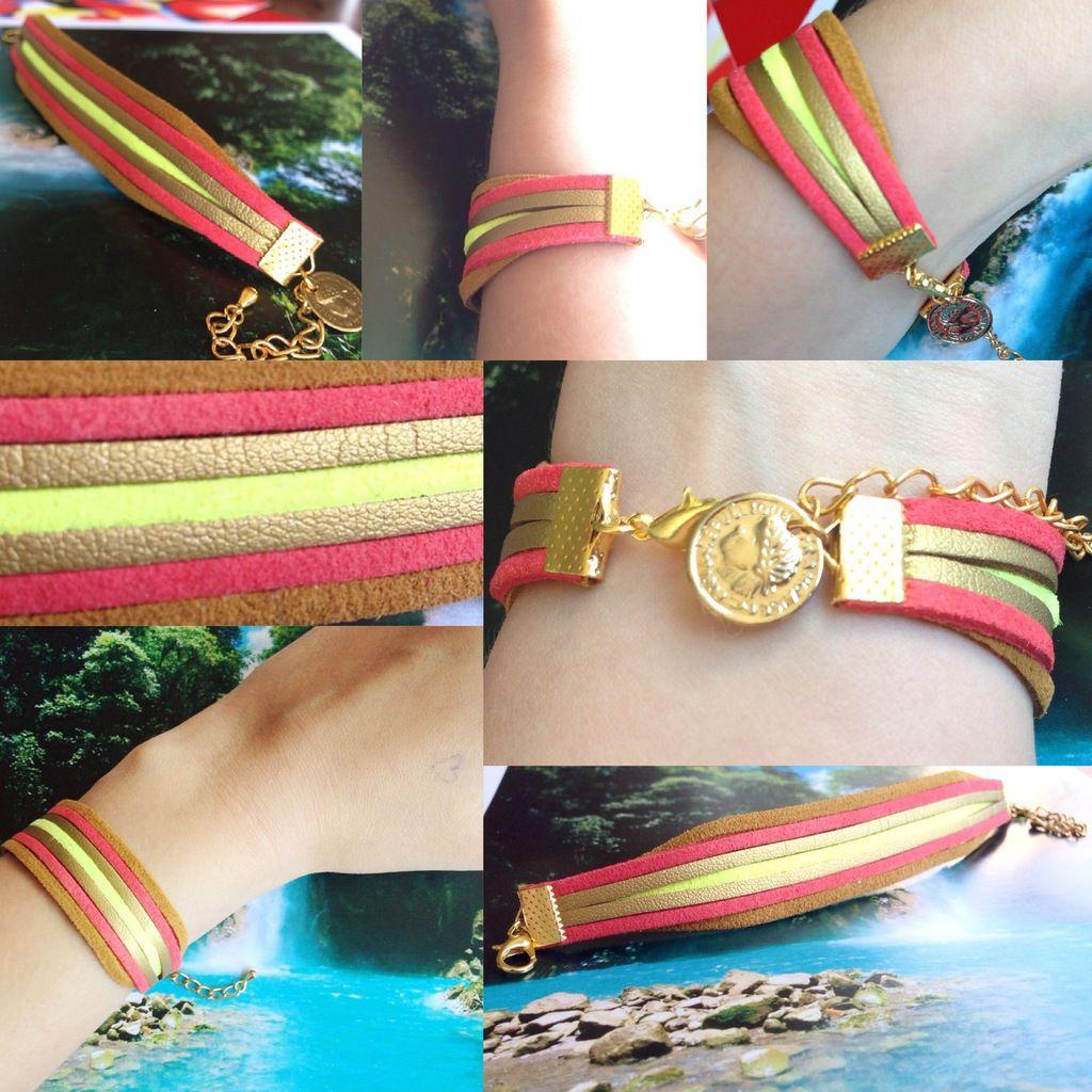 Pétillant pour l'été ! Le bracelet Succès corail&or - 10€
