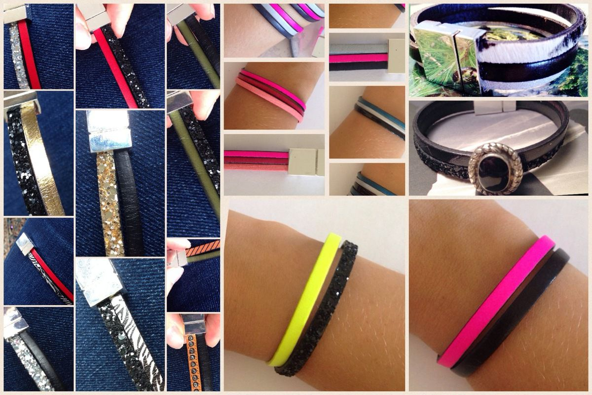 Mini bracelets cuir
