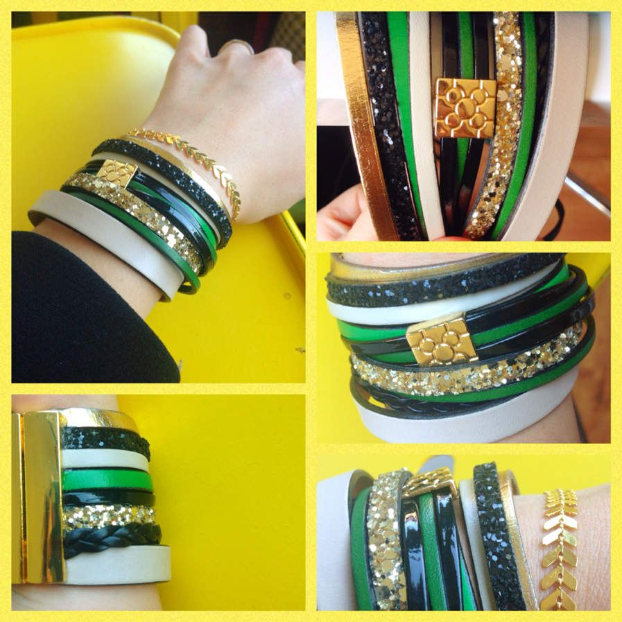 Bracelet manchon cuir