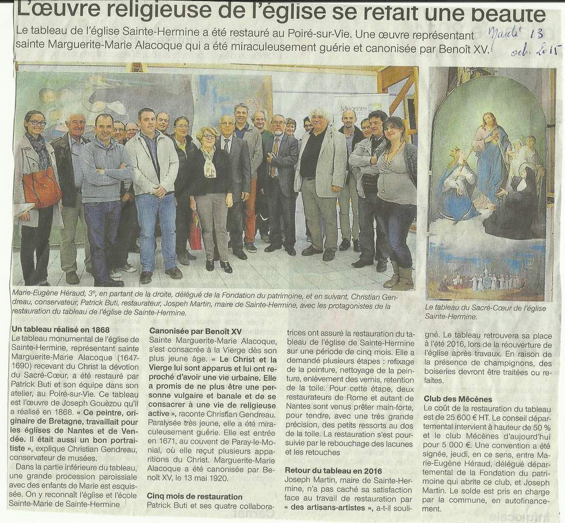 Ouest France 13 10 2015