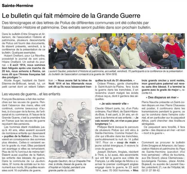 Ouest France 10 11 2015