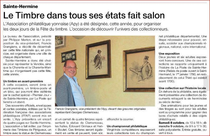 Ouest France 29 09 2016