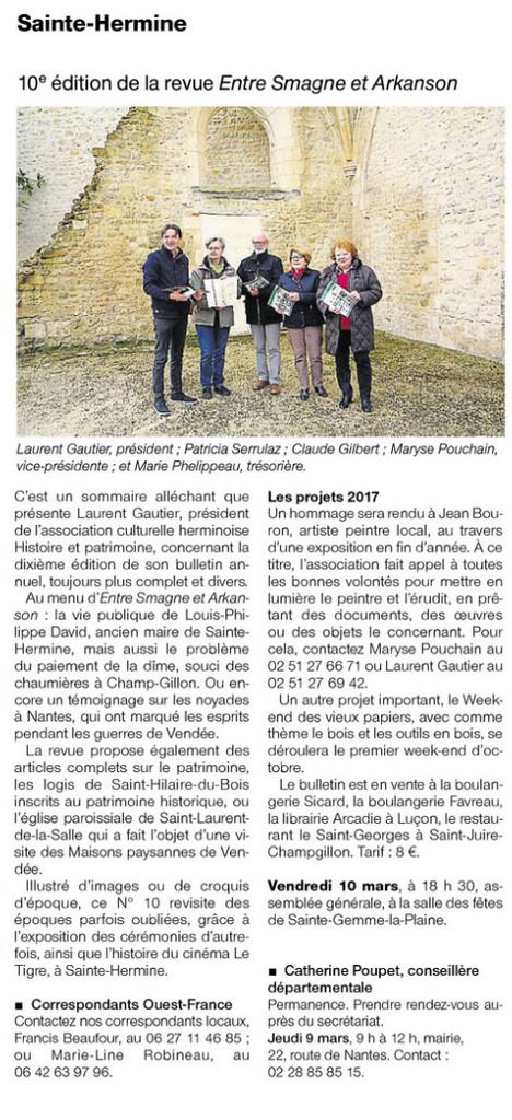 Ouest France 07 03 2017