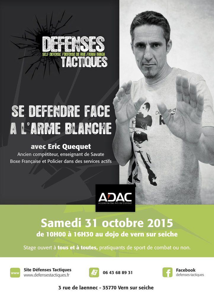 Eric QUEQUET fondateur de l'ADAC sera présent au club Samedi 31 octobre 2015.