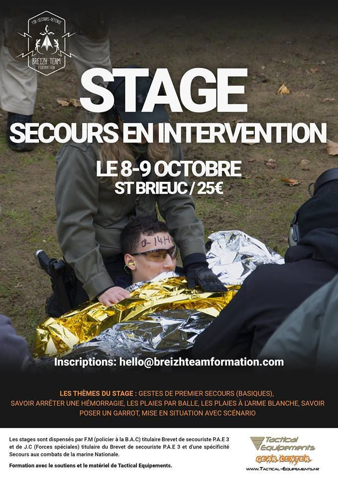 Stage secourisme au combat