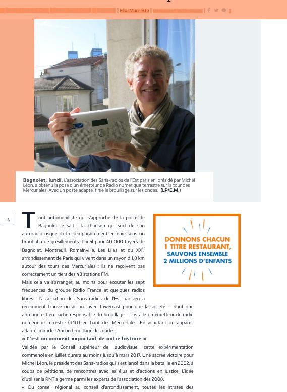 article Le Parisien 4-10-16