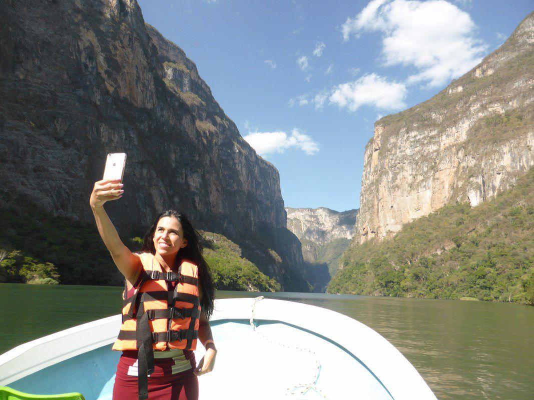 """Visite du canyon del Sumitero à bord d'une """"lancha"""""""