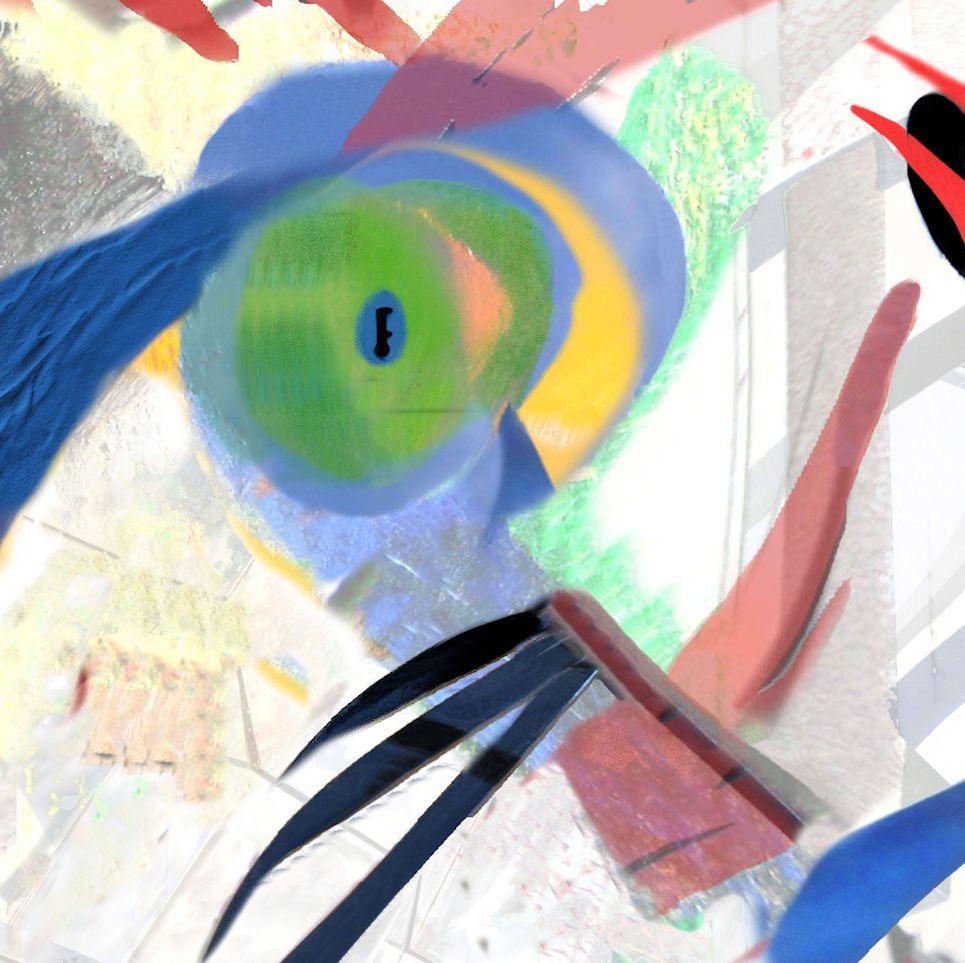 Fragments . Oeuvres numériques 30x30  &#x3B; tirage sue alu- janvier- 2016 mars