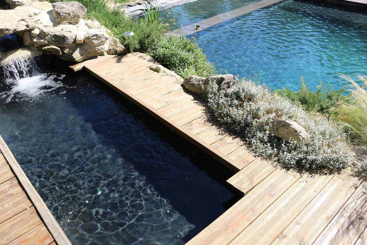 provencal guesthouse with natural swimmin-pool