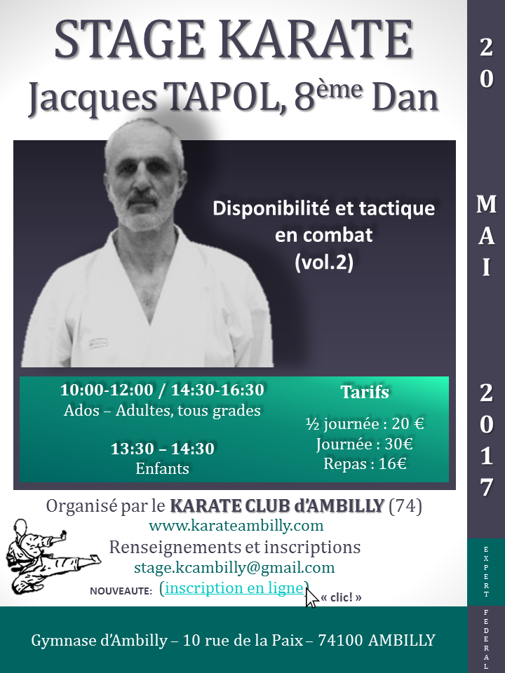 Stage Jacques TAPOL - 20 mai 2017 - Ambilly(74)