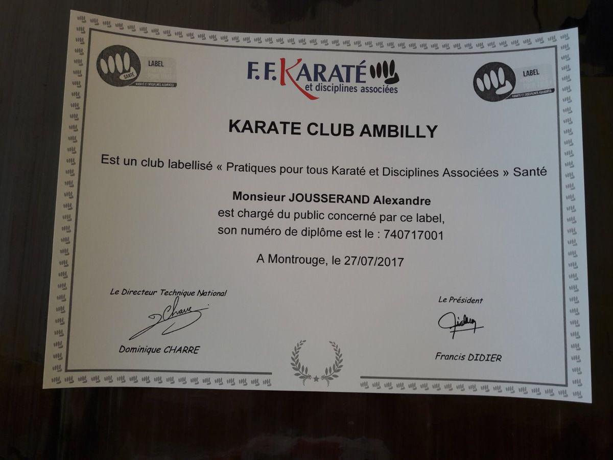 Label Karaté Santé.