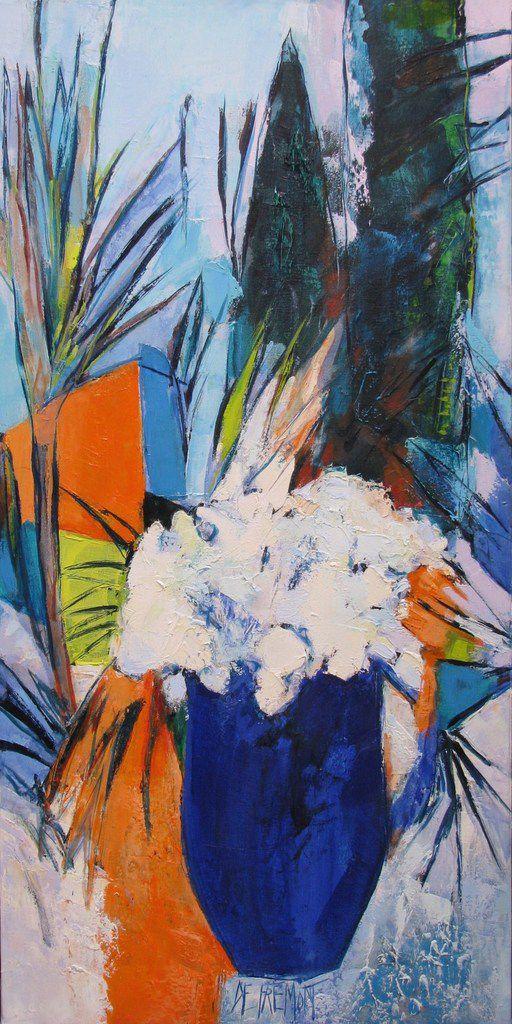Rêve de jardin ou les jardins du Riviera  - huile sur toile -  50x100 - copyright adagp
