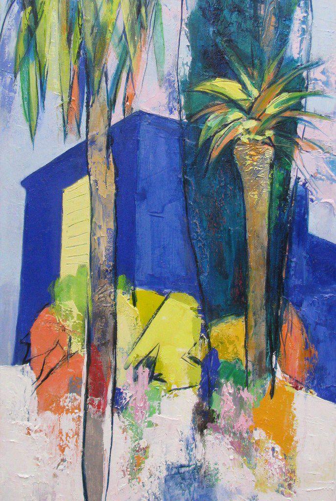 la Lézardière  - huile sur toile -  50x100 - copyright adagp