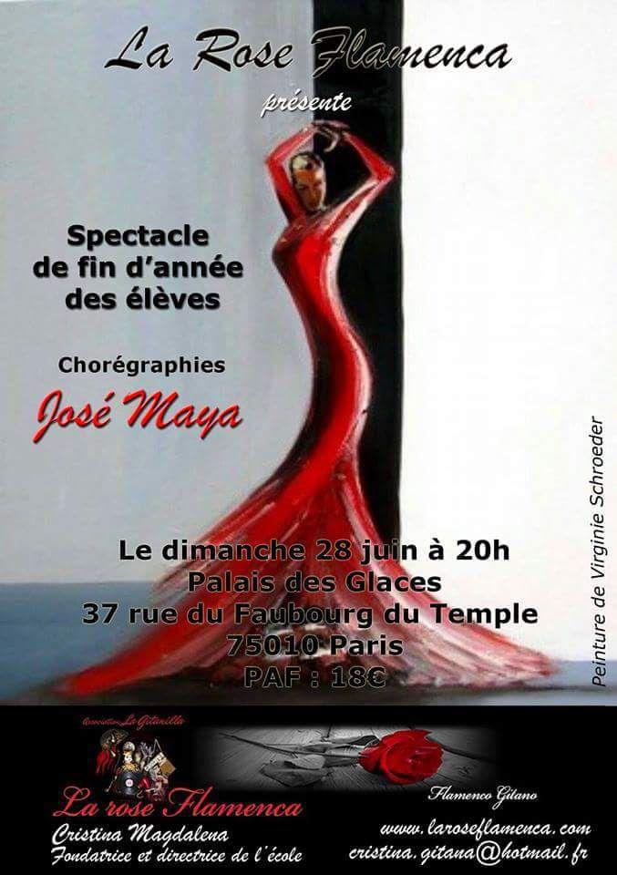 Cours de danse flamenco tous niveaux avec José Maya à Paris-Spectacle de fin d'année