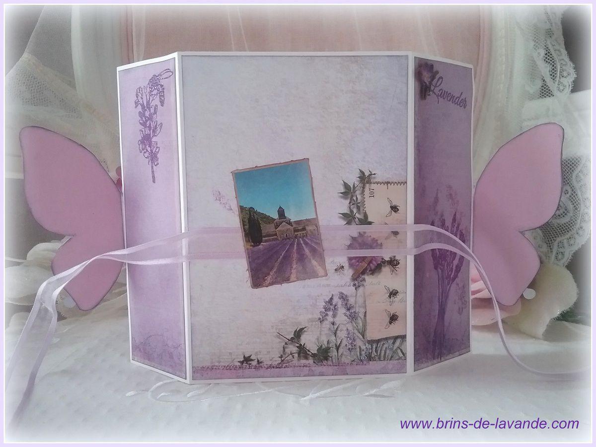 Carte Papillon &quot&#x3B;La Provence&quot&#x3B;