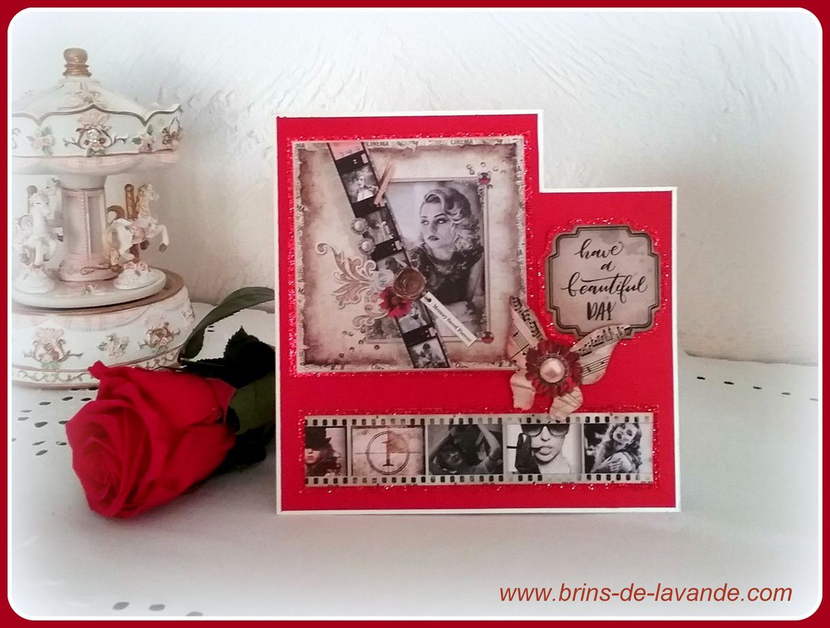 Carte St Valentin &quot&#x3B;Classic Hollywood&quot&#x3B;