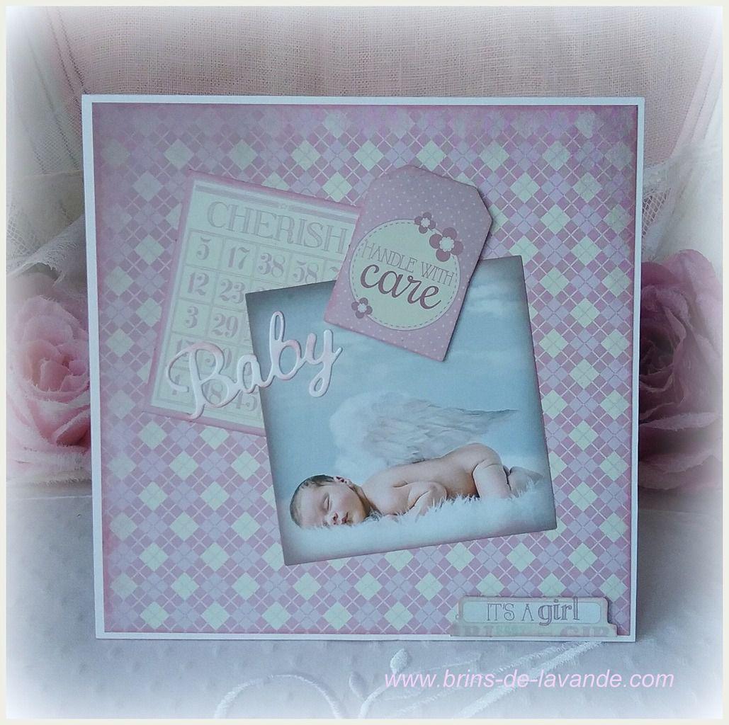 Carte Bébé &quot&#x3B;Couche-Culotte rose&quot&#x3B;