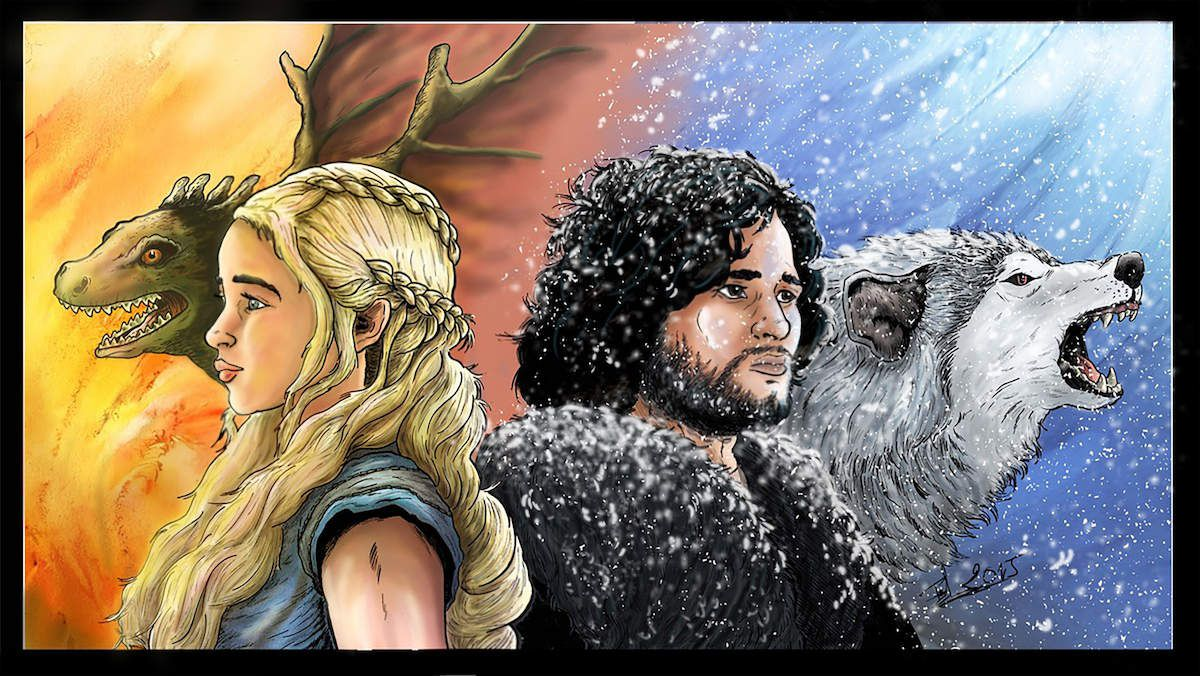 Game of Thrones Le batard et la reine des dragons version 2
