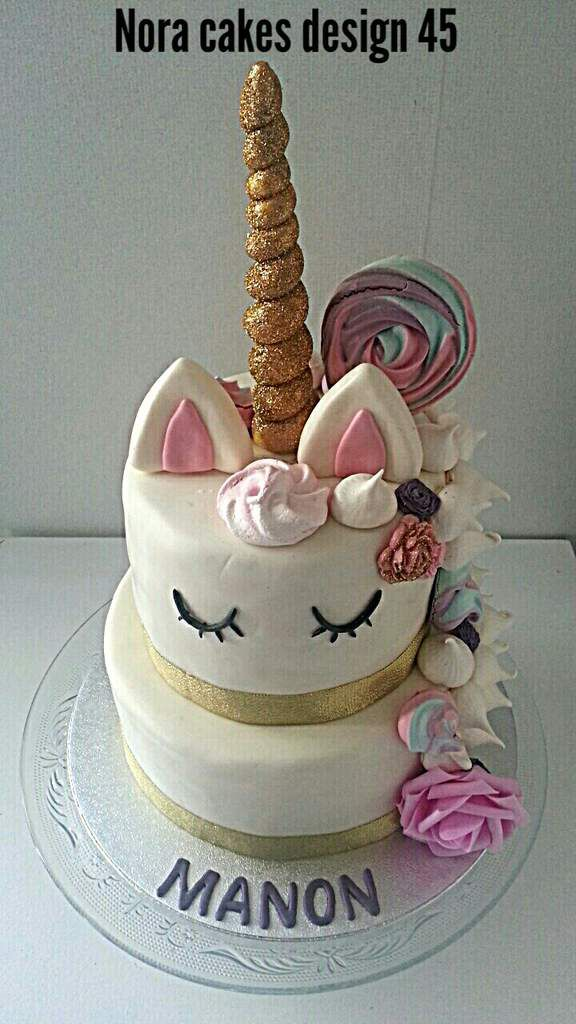 Wedding cake licorne nora cakes design 45 for Decoration gateau licorne