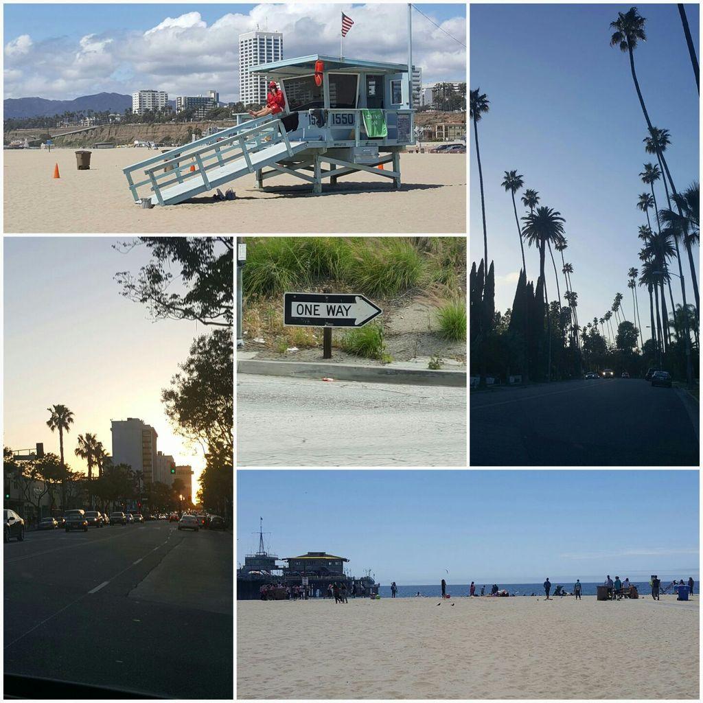 Enfin, pique-nique sur la plage et baptême dans l'océan pacifique!!!! Retour par le quartier mythique de Beverly hills!!