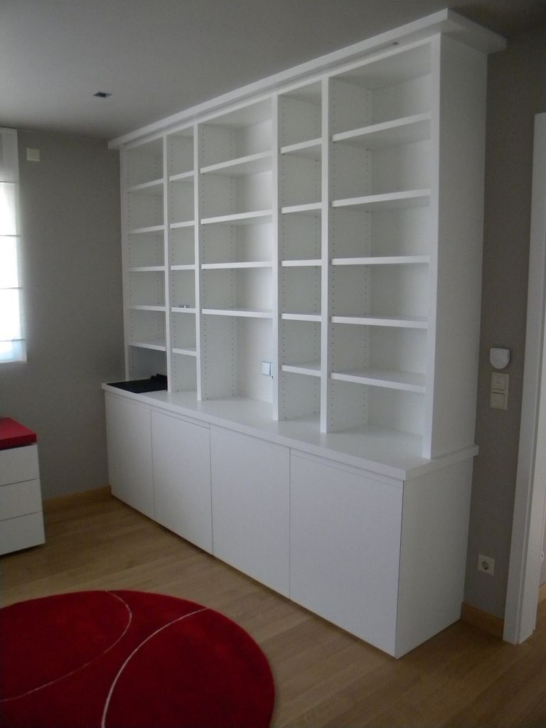 Meuble Bibliotheque Blanc Laque Remc Homes