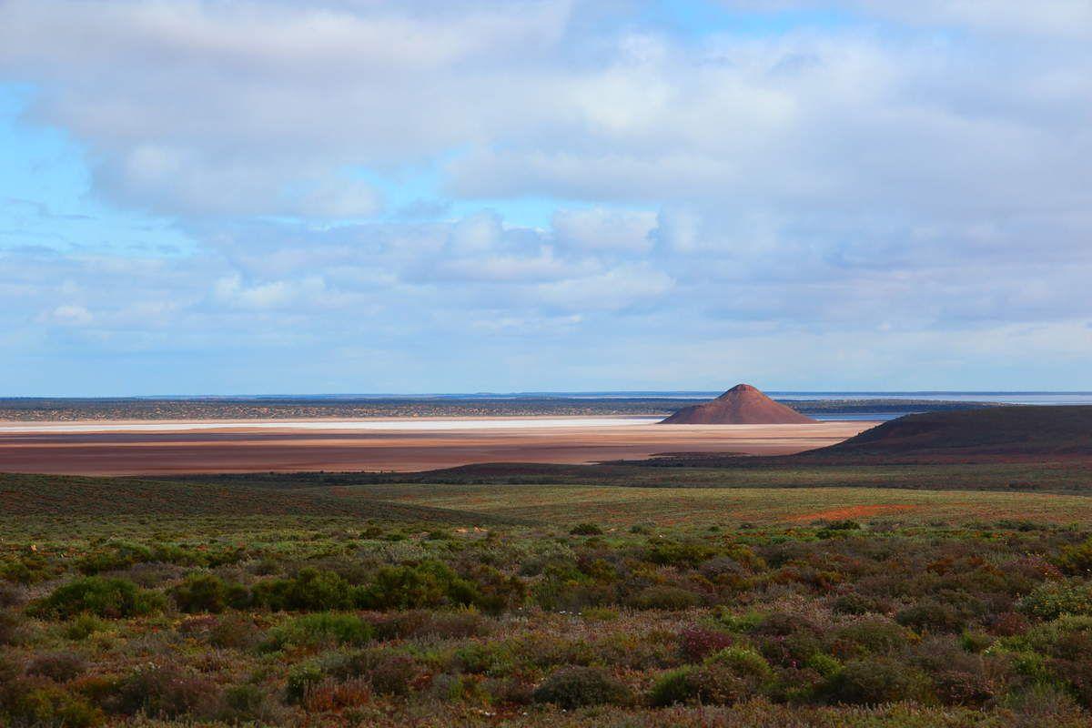 Sur la route dans le South Australia (Lake)