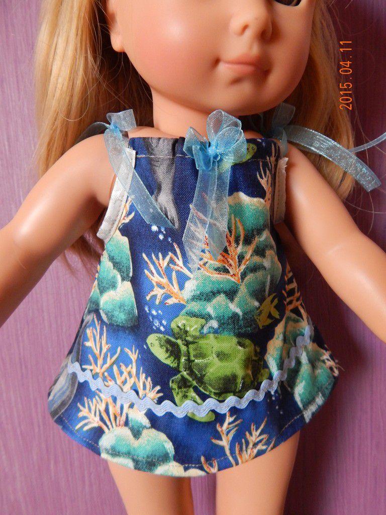 robe de plage poupée Götz