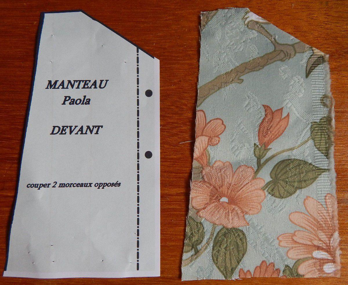 découpe du tissu pour les différents morceaux