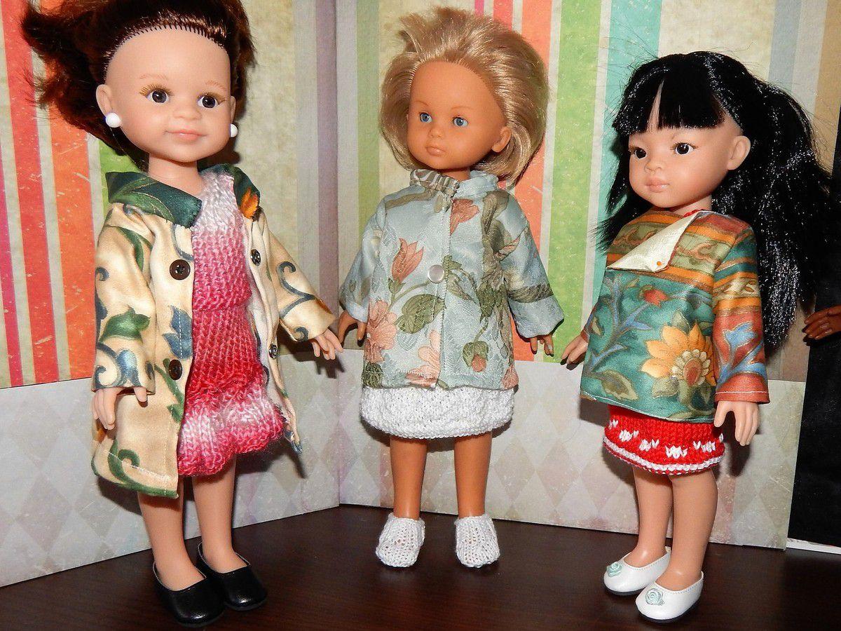Manteaux couture poupées de 33 cm