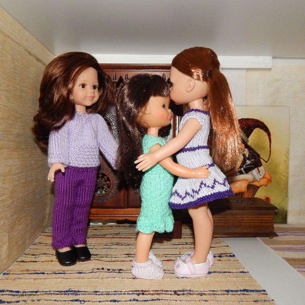 robe au crochet pour Paola, et petits chamailleries ...