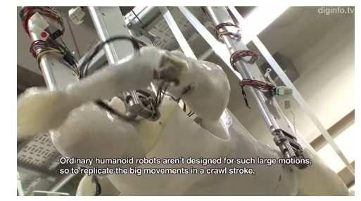 Techique du crawl et l'entraînement d'un robot
